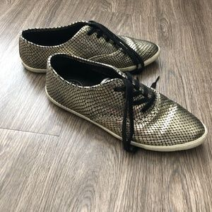 Marc By Marc Jacobs Gold Women's Lace Up Sneakers
